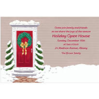 Snowy Front Door Custom Invitation