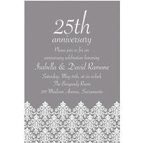 Unbridled Filigree Gray Custom Invitation