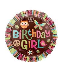 Happy Birthday Balloon - Hippie Chick