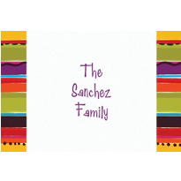 Fiesta Stripe Custom Thank You Note