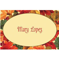 Elegant Leaves Custom Thank You Note
