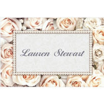 Lovely in White Custom Thank You Note