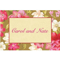 Elegant Bouquet Custom Thank You Note