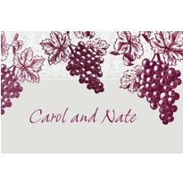Grape Vine Silhouette Custom Thank You Note