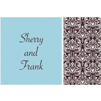 Decorative Damask Teal Custom Thank You Note