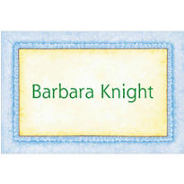 Blue Frills Custom Baby Shower Thank You Note