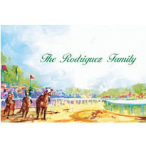 At the Races Custom Thank You Note