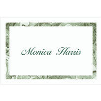 Engraving Border/White Custom Thank You Note