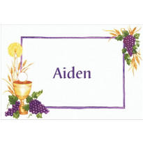 Communion with Grapes Custom Thank You Note
