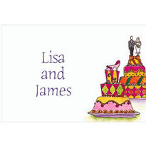 Wacky Wedding Cakes Custom Thank You Note