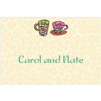His and Hers Coffee Mugs Custom Wedding Thank You Note