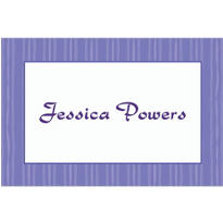 Passion Purple Ribbon Stripe Custom Thank You Note