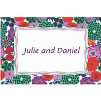 Multicolor Floral Custom Thank You Note