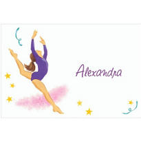 Leaping Gymnast Custom Thank You Note