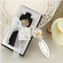 Calla Lily Bookmark Wedding Favor