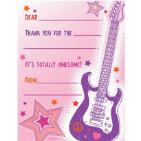 Girls Rock Fill In Thank You Notes 8ct