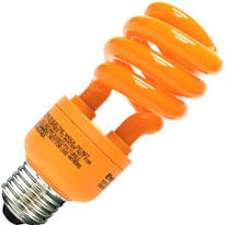 Orange CFL Light Bulb