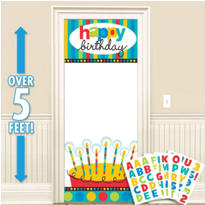 Dots & Stripes Personalized Door Decoration 65in