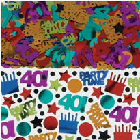 Dots & Stripes 40th Birthday Confetti 2.5oz