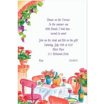 Italian Cafe Custom Invitation