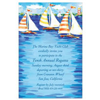 Sailboats on the Water Custom Invitation