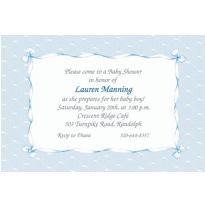 Blue Lace and Bows Custom Baby Shower Invitation