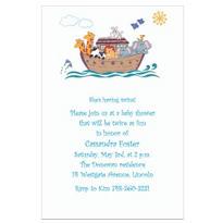 Fanciful Noah's Ark Custom Baby Shower Invitation