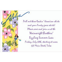 Aloha Custom Invitation