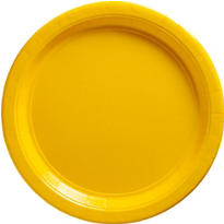 Sunshine Yellow Paper Dinner Plates 20ct