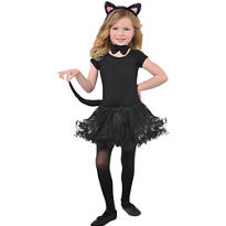 Child Glitter Cat Costume Kit