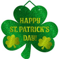 Glitter St. Patricks Day Sign 12in