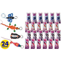 Bead Animals Keychains 24ct