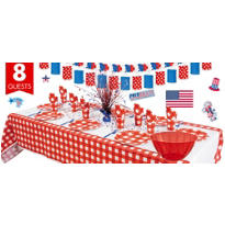 American Summer Red Gingham Super Party Kit