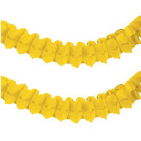 Yellow Paper Garland 12ft