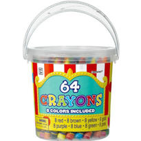 Bucket of Crayons 64pc