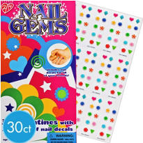 Nail Gems Valentines Day Cards with Nail Decal Sheets 30ct