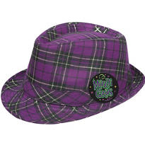 Plaid Mardi Gras Fedora Hat