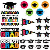 Colorful Graduation Cutouts 30ct
