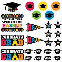Multicolor Graduation Cutouts 30ct