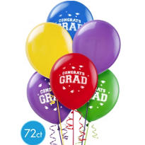 Multicolor Graduation Balloons 72ct