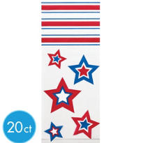 Patriotic Treat Bags 9 1/2in 20ct