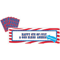 Personalized Patriotic Banner 65in