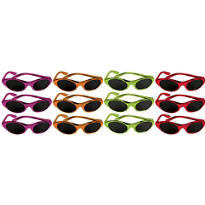 Fiesta Metallic Oval Sunglasses 12ct