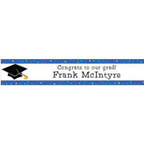 Commencement Celebration Custom Graduation Banner 6ft