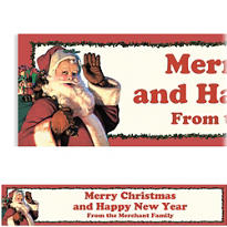 Jolly St. Nick Custom Christmas Banner