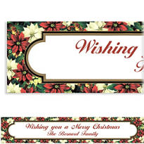 Regal Poinsettia Custom Christmas Banner