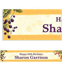 Botanical Berries Custom Banner 6ft