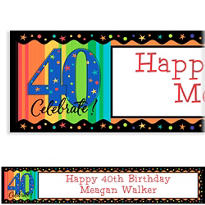 A Year to Celebrate 40 Custom Birthday Banner
