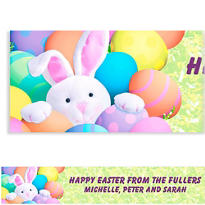 Peekaboo Bunny Custom Easter Banner 6ft