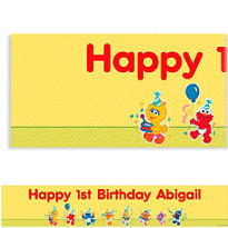 Sesame Street 1st Birthday Custom Banner 6ft